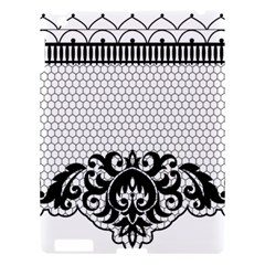 Transparent Lace Decoration Apple iPad 3/4 Hardshell Case