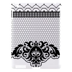 Transparent Lace Decoration Apple iPad 3/4 Hardshell Case (Compatible with Smart Cover)