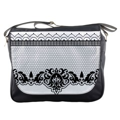 Transparent Lace Decoration Messenger Bags