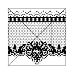 Transparent Lace Decoration Acrylic Tangram Puzzle (6  X 6 )