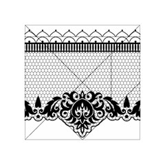 Transparent Lace Decoration Acrylic Tangram Puzzle (4  X 4 )
