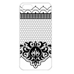 Transparent Lace Decoration Apple Iphone 5 Seamless Case (white)