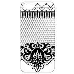 Transparent Lace Decoration Apple iPhone 5 Classic Hardshell Case
