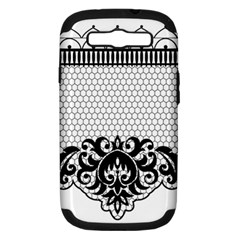 Transparent Lace Decoration Samsung Galaxy S III Hardshell Case (PC+Silicone)