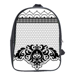 Transparent Lace Decoration School Bags (XL)