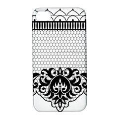 Transparent Lace Decoration Apple Iphone 4/4s Hardshell Case With Stand