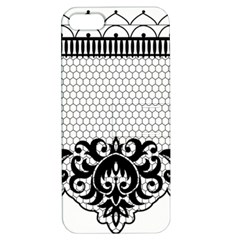 Transparent Lace Decoration Apple Iphone 5 Hardshell Case With Stand