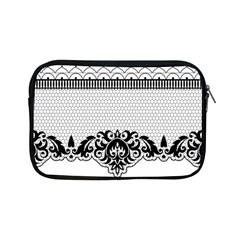 Transparent Lace Decoration Apple iPad Mini Zipper Cases