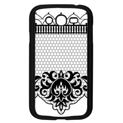 Transparent Lace Decoration Samsung Galaxy Grand Duos I9082 Case (black)