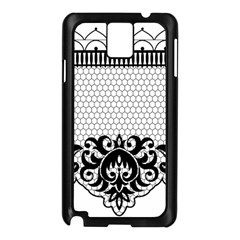 Transparent Lace Decoration Samsung Galaxy Note 3 N9005 Case (black)