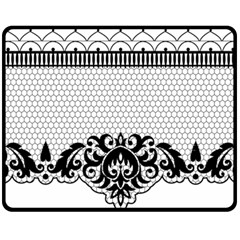 Transparent Lace Decoration Double Sided Fleece Blanket (Medium)