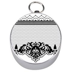 Transparent Lace Decoration Silver Compasses