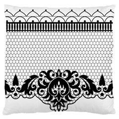 Transparent Lace Decoration Standard Flano Cushion Case (two Sides)
