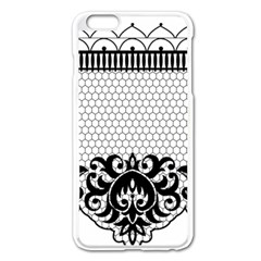 Transparent Lace Decoration Apple Iphone 6 Plus/6s Plus Enamel White Case