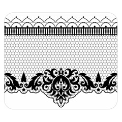 Transparent Lace Decoration Double Sided Flano Blanket (Small)
