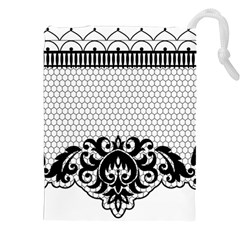 Transparent Lace Decoration Drawstring Pouches (xxl)