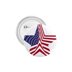A Star With An American Flag Pattern 1.75  Buttons
