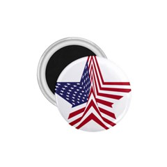 A Star With An American Flag Pattern 1 75  Magnets
