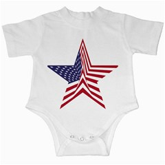A Star With An American Flag Pattern Infant Creepers