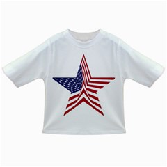 A Star With An American Flag Pattern Infant/toddler T Shirts