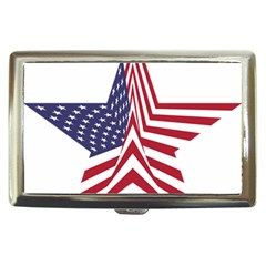 A Star With An American Flag Pattern Cigarette Money Cases