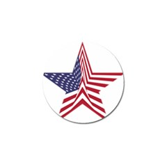 A Star With An American Flag Pattern Golf Ball Marker