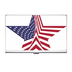 A Star With An American Flag Pattern Business Card Holders