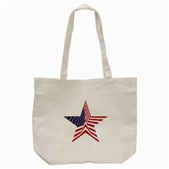 A Star With An American Flag Pattern Tote Bag (Cream)