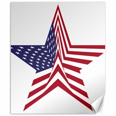 A Star With An American Flag Pattern Canvas 20  X 24