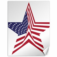 A Star With An American Flag Pattern Canvas 36  X 48