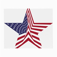 A Star With An American Flag Pattern Small Glasses Cloth (2 Side)