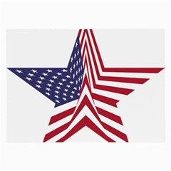 A Star With An American Flag Pattern Large Glasses Cloth (2-Side)