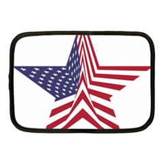 A Star With An American Flag Pattern Netbook Case (medium)