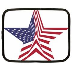 A Star With An American Flag Pattern Netbook Case (large)