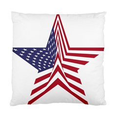 A Star With An American Flag Pattern Standard Cushion Case (One Side)