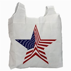 A Star With An American Flag Pattern Recycle Bag (One Side)