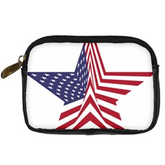 A Star With An American Flag Pattern Digital Camera Cases