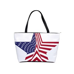 A Star With An American Flag Pattern Shoulder Handbags