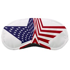 A Star With An American Flag Pattern Sleeping Masks
