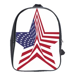 A Star With An American Flag Pattern School Bags(large)
