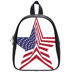 A Star With An American Flag Pattern School Bags (Small)