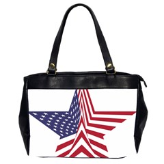 A Star With An American Flag Pattern Office Handbags (2 Sides)