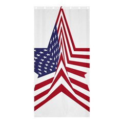 A Star With An American Flag Pattern Shower Curtain 36  X 72  (stall)