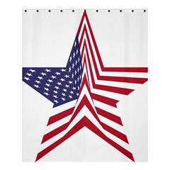 A Star With An American Flag Pattern Shower Curtain 60  X 72  (medium)