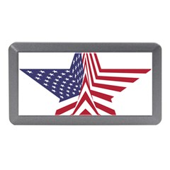 A Star With An American Flag Pattern Memory Card Reader (mini)