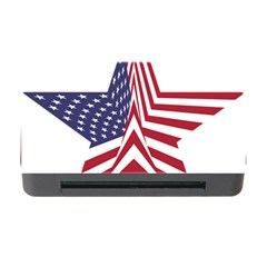 A Star With An American Flag Pattern Memory Card Reader With Cf