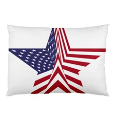 A Star With An American Flag Pattern Pillow Case (two Sides)