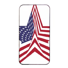 A Star With An American Flag Pattern Apple iPhone 4/4s Seamless Case (Black)