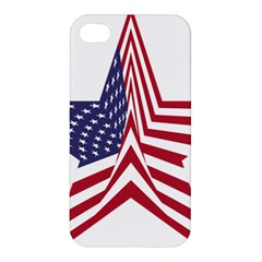 A Star With An American Flag Pattern Apple Iphone 4/4s Hardshell Case