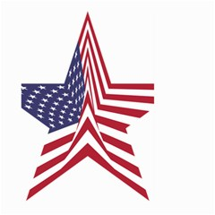 A Star With An American Flag Pattern Large Garden Flag (Two Sides)